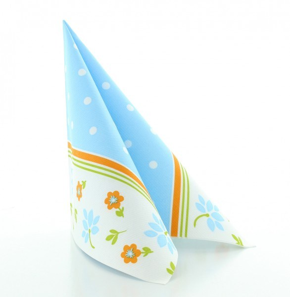 Serviette Lea in hellblau aus Linclass® Airlaid 40 x 40 cm, 50 Stück