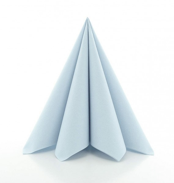 Serviette Perlgrau aus Linclass® Airlaid 40 x 40 cm, 12 Stück