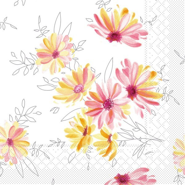 Serviette Alena aus Tissue 33 x 33 cm, 100 Stück