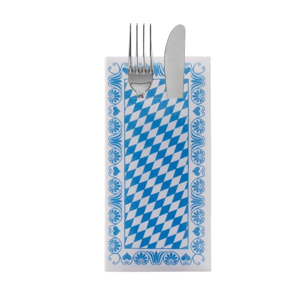 Besteckserviette Bavaria in Blau aus Linclass® Airlaid 40 x 40 cm, 100 Stück