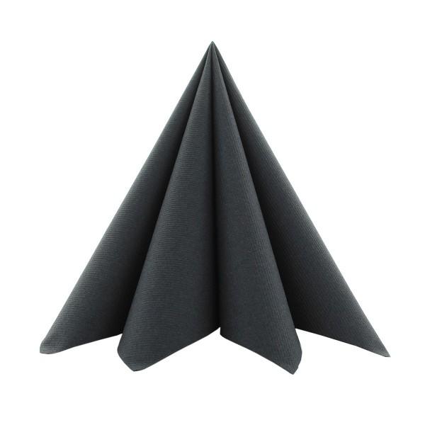 Serviette in Schwarz aus Softpoint 40 x 40 cm, 2-lagig, 50 Stück