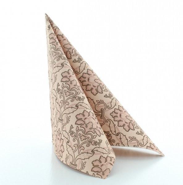 Serviette Cleve in braun aus Linclass® Airlaid 40 x 40 cm, 50 Stück