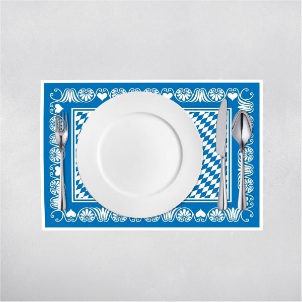 Tischset Bavaria in Blau aus Linclass® Airlaid 40 x 30 cm, 100 Stück