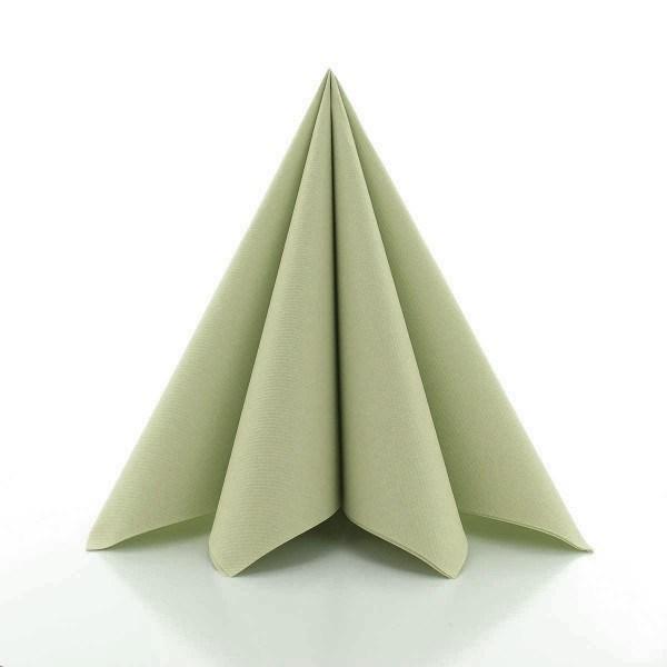 Serviette Oliv aus Linclass® Airlaid 40 x 40 cm, 12 Stück
