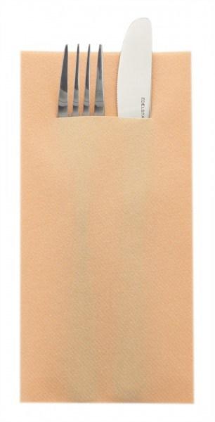 Besteckserviette Aprikot aus Linclass® Airlaid 40 x 40 cm, 100 Stück
