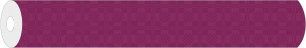 Papier-Tischdeckenrolle Damast in Bordeaux aus Papier 100 cm x 25 m, 1 Stück