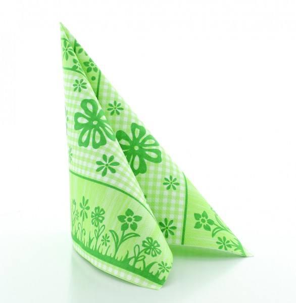 Serviette Joni in grün aus Linclass® Airlaid 40 x 40 cm, 50 Stück