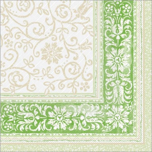 Serviette Lara in grün aus Tissue Deluxe®, 4-lagig, 40 x 40 cm, 50 Stück