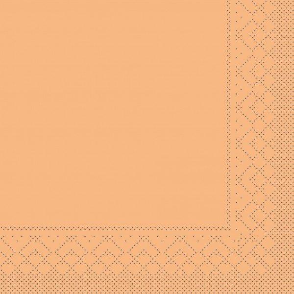 Serviette Aprikot aus Tissue 33 x 33 cm, 20 Stück