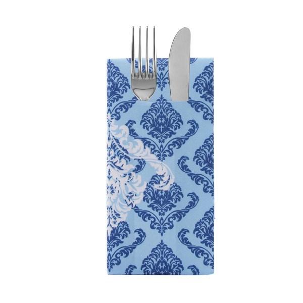 Besteckserviette Giorgio in Blau aus Linclass® Airlaid 40 x 40 cm, 12 Stück