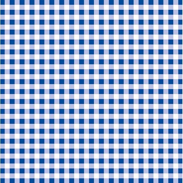 Papier-Tischdecke Karo in Blau aus Papier 80x80 cm, 50 Stück
