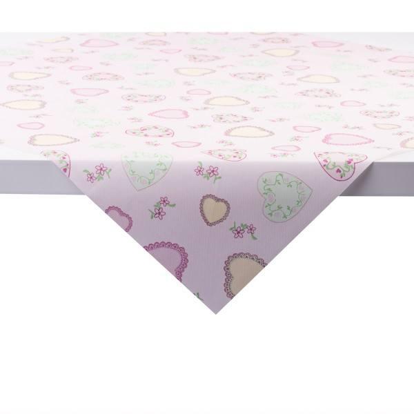 Tischdecke Sweet Love in Rosa aus Linclass® Airlaid 80 x 80 cm, 1 Stück