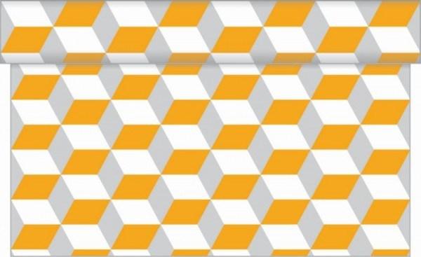Tischläufer Chicago in Orange- Grau aus Linclass® Airlaid 40 cm x 4,80 m, 1 Stück