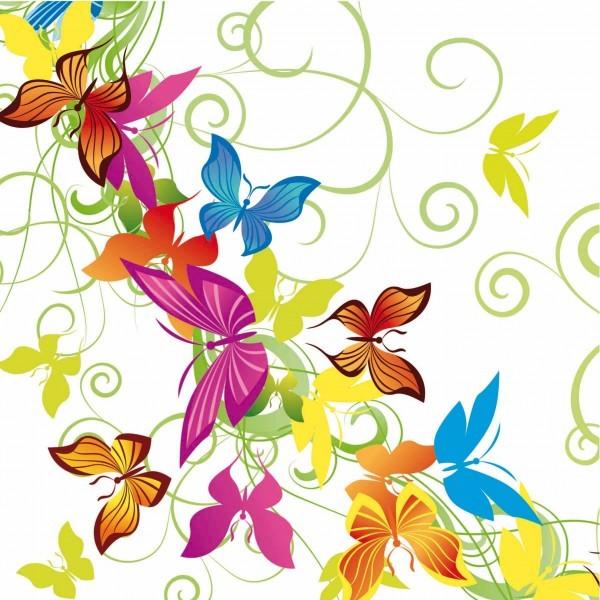 Serviette Papillon aus Linclass® Airlaid 40 x 40 cm, 12 Stück