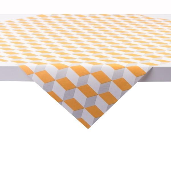 Tischdecke Chicago in Orange aus Linclass® Airlaid 80 x 80 cm, 1 Stück