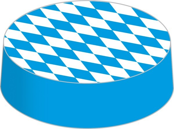 Glasabdeckungen aus hochwertigem Karton, Bayern/Bavaria, Ø 86 mm, 200 Stück