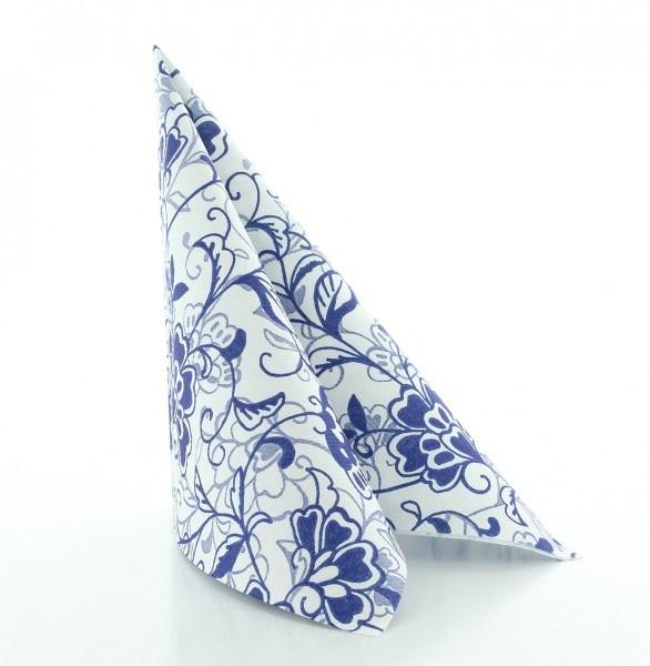 Serviette Liv in blau aus Linclass® Airlaid 40 x 40 cm, 50 Stück