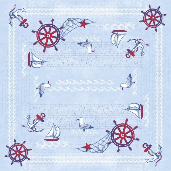 Tischdecke Meeresbrise in Blau aus Linclass® Airlaid 80 x 80 cm, 20 Stück