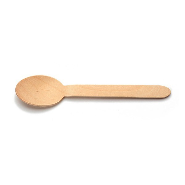Löffel aus Holz, 160 mm, 100 Stück