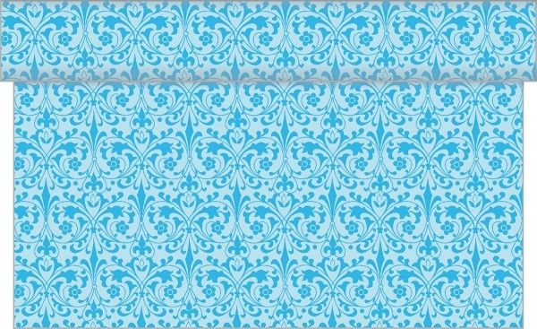 Tischläufer Janet in Aquablau aus Linclass® Airlaid 40cm x 24 m, 1 Stück