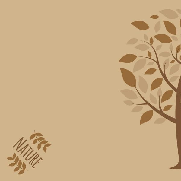 Serviette Green Nature Baum in Braun aus Linclass® Airlaid 40 x 40 cm, 50 Stück
