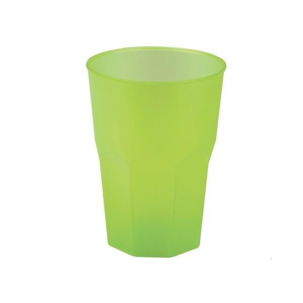 Mehrweg-Cocktailglas aus Plastik, Hellgrün-gefrostet, 420ml, 6 Stück