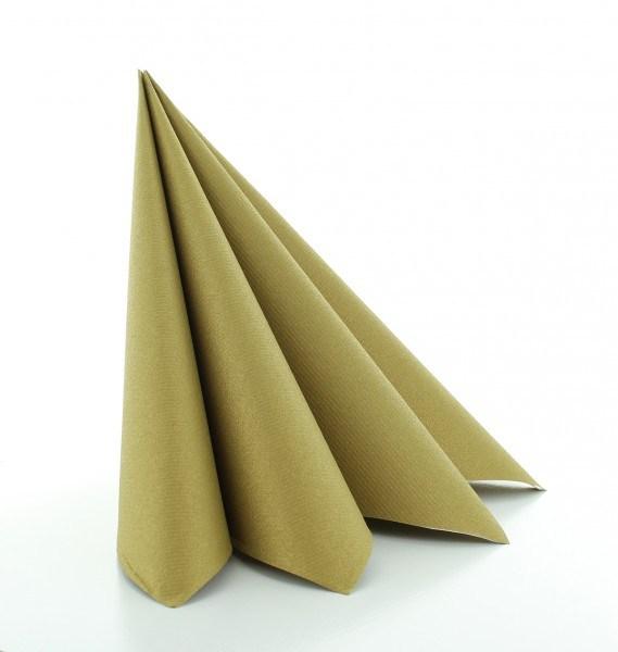 Serviette Gold aus Linclass® Airlaid 40 x 40 cm, 12 Stück