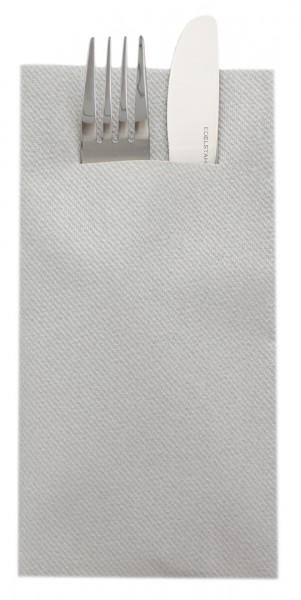 Besteckserviette Silber aus Linclass® Airlaid 40 x 40 cm, 100 Stück