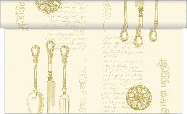 Tischläufer Elisabeth in Gold-Champagner aus Linclass® Airlaid 40 cm x 24 m, 1 Stück