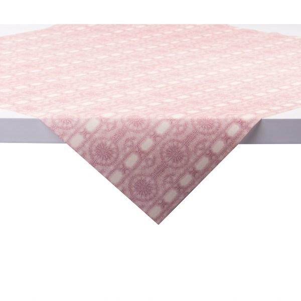 Tischdecke Stefanie in creme-bordeaux aus Linclass® Airlaid 80 x 80 cm, 20 Stück