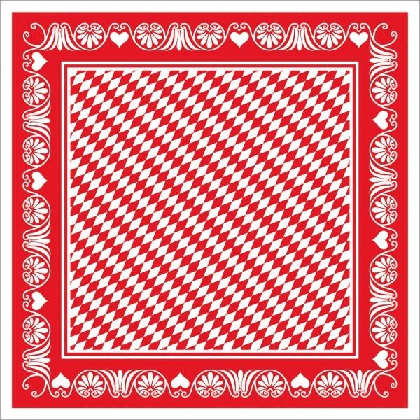 Tischdecke Bavaria in rot aus Linclass® Airlaid 80 x 80 cm, 20 Stück