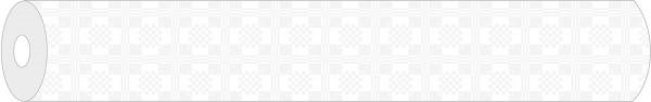 Papier-Tischdeckenrolle Damast in Weiss aus Papier 100 cm x 50 m, 1 Stück