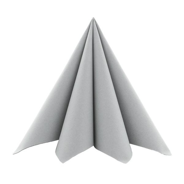 Serviette in Grau aus Softpoint 40 x 40 cm, 2-lagig, 50 Stück