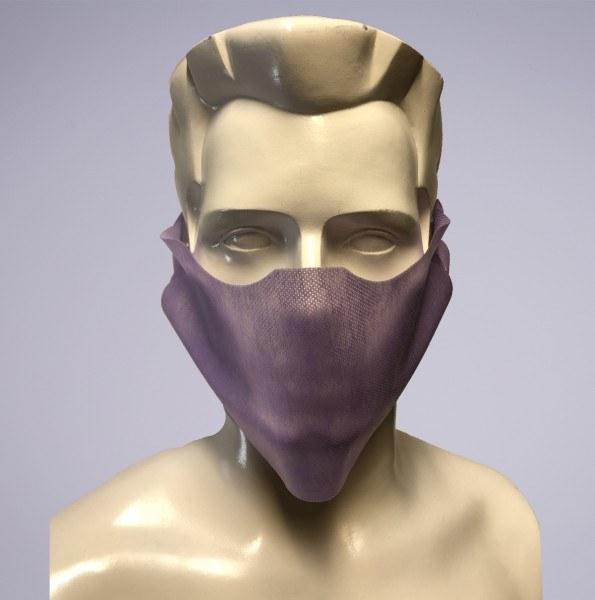Sovie Care Einweg Behelfs- Mund- und Nasenmaske M1 in Flieder aus PP-Vlies - 100 Stück - Masken