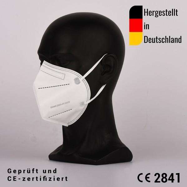 10 Stück FFP2 Masken, zertifiziert CE2841 - hergestellt in Deutschland - Einzel Verpackt