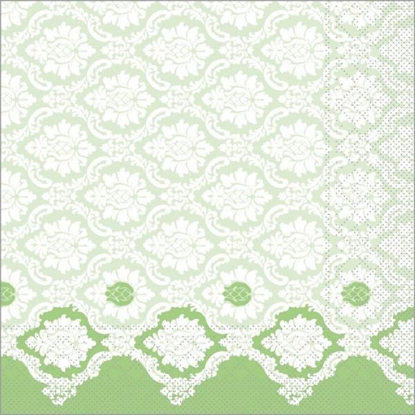 Serviette Mandy in apfelgrün aus Tissue 40 x 40 cm, 100 Stück