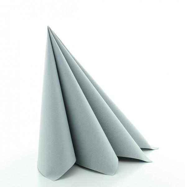 Serviette in Grau aus Linclass® Airlaid 40 x 40 cm, 50 Stück