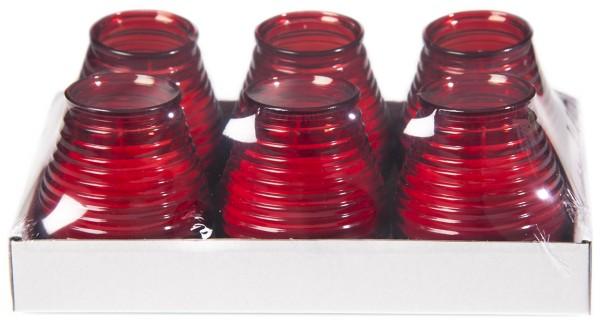 Glaswindlicht Flairlight in rot 6 Stück im Tray