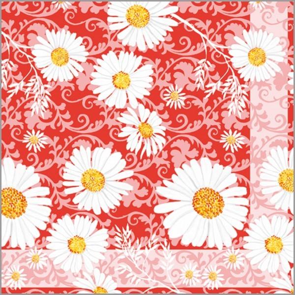 Serviette Lissy in rot aus Tissue 33 x 33 cm, 100 Stück