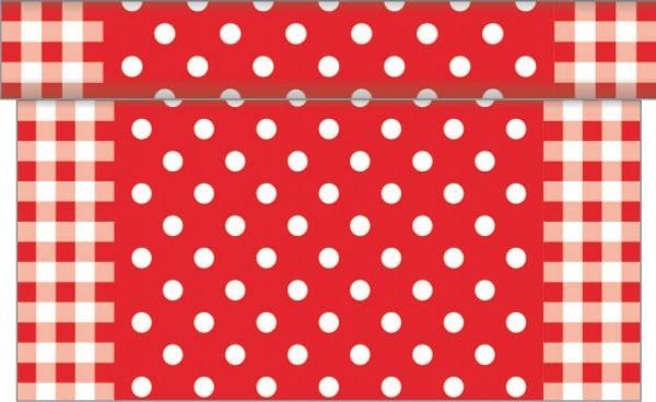 Tischläufer Anton in Rot aus Linclass® Airlaid 40 cm x 4,80 m, 1 Stück
