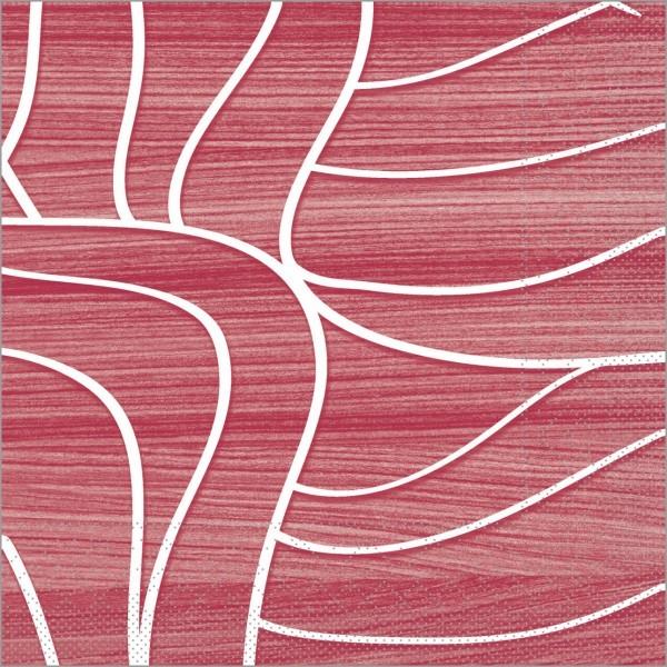 Serviette René in Bordeaux aus Tissue 33 x 33 cm, 3-lagig, 100 Stück