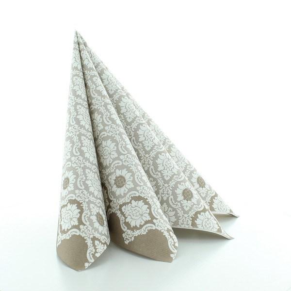 Serviette Mandy in grau aus Linclass® Airlaid 40 x 40 cm, 50 Stück