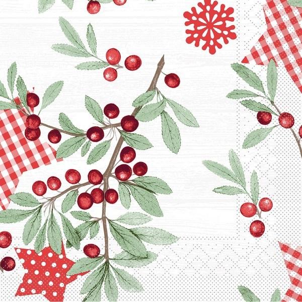 Serviette Country Xmas aus Tissue 40 x 40 cm, 100 Stück