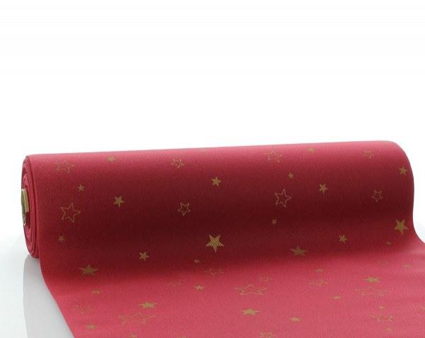 Tischläufer Liam in Bordeaux aus Linclass® Airlaid 40cm x 24 m, 1 Stück