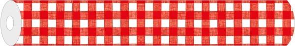 Papier-Tischdecke Karo in Rot aus Papier 80x80 cm, 50 Stück