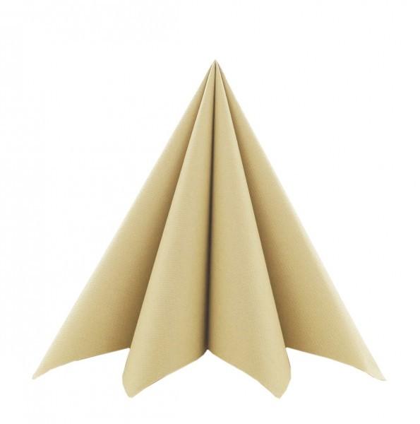 Serviette in Sand aus Softpoint 40 x 40 cm, 2-lagig, 50 Stück