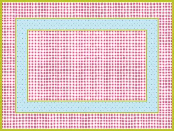 Tischset Vichy in rosa aus Linclass® Airlaid 40 x 30 cm, 100 Stück