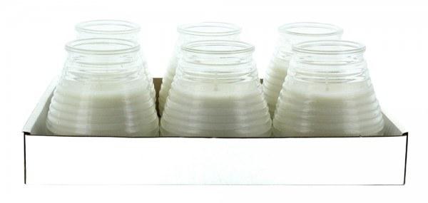 Glaswindlicht Flairlight in transparent 6 Stück im Tray
