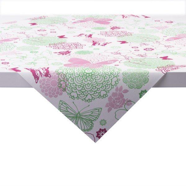 Tischdecke Luisa in pink-grün aus Linclass® Airlaid 80 x 80 cm, 20 Stück