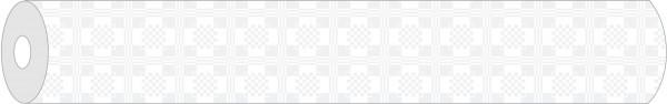 Papier-Tischdeckenrolle Damast in Weiss aus Papier 100 cm x 25 m, 1 Stück